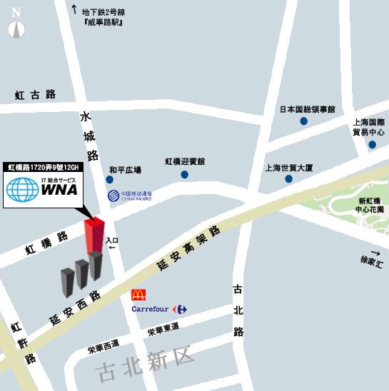 wna上海地図